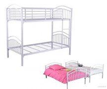 Двуетажно легло Верона-бяло