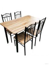 Комплект маса и столове 26 В метал